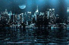 Imagini ,miscatoare,Gifuri,cu sclipici,stralucesc,blog,informatii,urari,mesaje,felicitari zi nastere: Imagini miscatoare gif apa ,oras noaptea ,ploaie