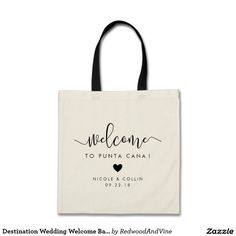 Destination Wedding Welcome Bag   Heart. by Redwood & Vine