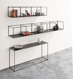 Slim Irony Wall Rack - Shop timeless furniture handmade in Italy: tables, chairs, sideboards and cabinets - Home Décor and Interior Design ideas from Italy's finest artisans - Artemest Iron Furniture, Steel Furniture, Modern Furniture, Home Furniture, Furniture Design, Furniture Stores, Furniture Makeover, Bedroom Furniture, Furniture Ideas
