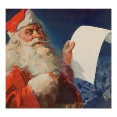 Shop Vintage Christmas, Retro Santa Claus Invitation created by ChristmasCafe. Christmas Tunes, Retro Christmas, Christmas Cards, Christmas Posters, Christmas Stuff, Christmas Eve, Holiday, Santa Letter, Foto Art