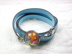 Annys workshop手作押花飾品,時尚百搭皮質押花手鏈, Handmade Bracelet, Pressed flower with PU Leather