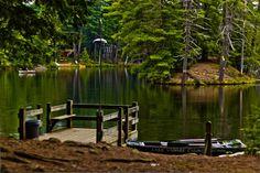 Canoes @ Lake Vanare - Adirondack's NY