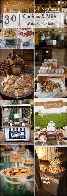 rustic country cookies smores bar /  / http://www.deerpearlflowers.com/wedding-smore-cookies-milk-bar-ideas/