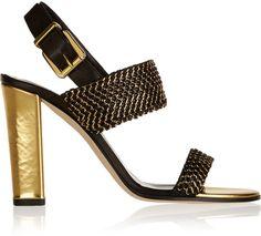 Balmain Embellished leather sandals