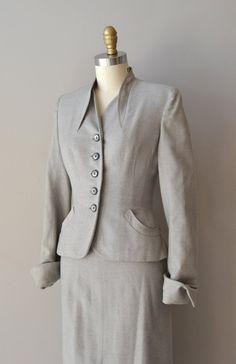 New Century suit • wool 1940s suit •  vintage 1950s suit