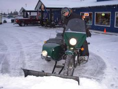snow plow for motorcycle