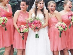 Dark Pink Bridesmaids Dresses | photography by http://www.michelleboydphotography.com