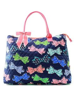 "Large Quilted Tote Bag 21"" Laptop Travel"