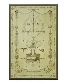 John Richard Panel with Landscape Cartouche I Artwork Large Furniture, Painted Furniture, Furniture Redo, Frames On Wall, Framed Wall, Antique Art, Art Reproductions, Vintage World Maps, Wall Art