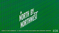 Title sequence to Alfred Hitchcock film, North by Northwest, designed by Saul Bass.