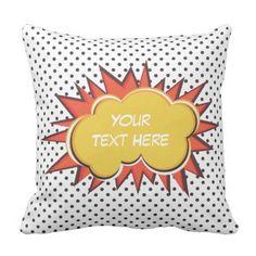 Comic Explosion Throw Pillow