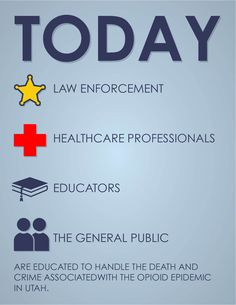 Law enforcement and healthcare professionals come together to hanlde the Utah opioid epidemic.