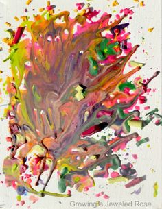 melted crayon shavings art - try in an oven? place the page at an angle for this effect. Crayon Crafts, Crayon Art, Old Paintings, Original Paintings, Original Art, Local Art Galleries, Crafts For Kids, Arts And Crafts, Melting Crayons