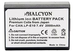 Canon EOS Rebel T5 Digital Camera Battery Lithium-Ion 2000mAh Halcyon Replacement for Canon LPE10 Battery - For Sale Check more at http://shipperscentral.com/wp/product/canon-eos-rebel-t5-digital-camera-battery-lithium-ion-2000mah-halcyon-replacement-for-canon-lpe10-battery-for-sale/