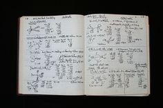 Linus Pauling research notebook.