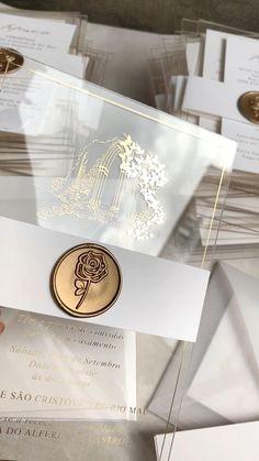 Acrylic Wedding Invitations, Spring Wedding Invitations, Wedding Invitation Envelopes, Wedding Stationary, Invitation Ideas, Cinderella Invitations, Royal Wedding Invitation, Scroll Wedding Invitations, Quince Invitations