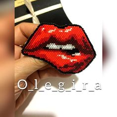 Jewelry red lips Red lips Brooch Red brooch Red Jewelry Brooch beads Jewelry for a woman Buy Jewelry Stylish Jewelry A gift for a woman Red Jewelry, Stylish Jewelry, Beaded Jewelry, Handmade Jewelry, Beaded Bracelets, Beaded Embroidery, Cross Stitch Embroidery, Crochet Case, Bracelets