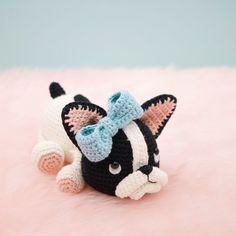 Belle the Boston Terrier amigurumi pattern by LittleAquaGirl