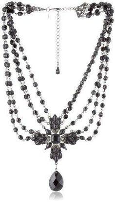 Collier noir, victorien - baroque