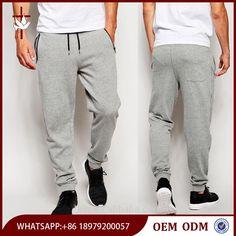 Men Side Zip Pockets Skinny Joggers Wholesale Custom Jogger Sweatpants