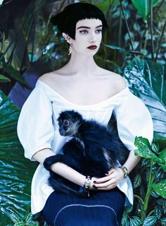 Grace Hartzel By Mikael Jansson For American Vogue April 2016 / Editorial: Welcome To The Jungle Fashion Editor: Camilla Nickerson / Hair Stylist: Shay Ashual / Makeup Artist: Hannah Murray Vogue 2016, Vogue Us, Patrick Demarchelier, Rumble In The Jungle, Welcome To The Jungle, Ethereal Photography, Fashion Photography, Inspiring Photography, Color Photography