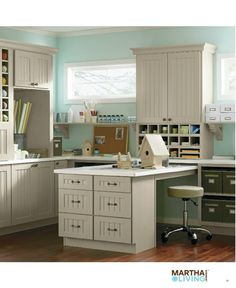 I love the closed cabinetry to hide things away and keep that clean look! I also love the colors.  residenceblog.comresidenceblog.com