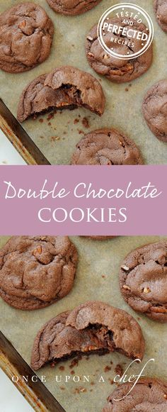 These double dose chocolate cookies are foolproof. Stuffed with chocolate chips and pecans, they emerge from the oven puffy, gooey, chewy and crunchy every single time!