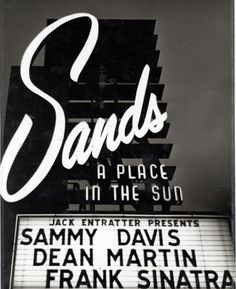 Sands marquee - Las Vegas.  From the UNLV Special Collections