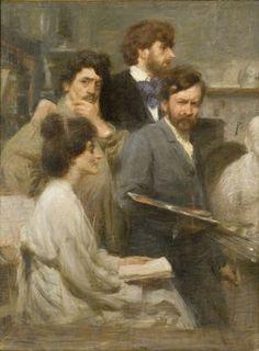 Giacomo Balla, Nello specchio - Risposta 1311: un ritratto in cui compare lo stesso autore