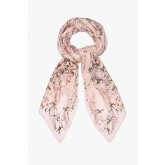 Silk Floral Scarf ($85) ❤ liked on Polyvore featuring accessories, scarves, pink, silk scarves, pink scarves, floral scarves, pure silk scarves and floral shawl