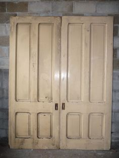 Antique Victorian 4 Panel Pocket Doors - Circa 1880 Fir Architectural Salvage : salvage doors houston - pezcame.com