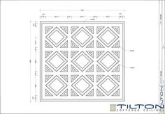 Coffered Ceiling Design Drawing - Bespoke 1