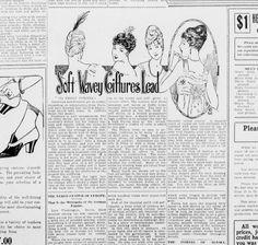 """1915 article from the Tulsa Daily World """"Soft Wavey Coiffures Lead. 21 Mar 1915…"""