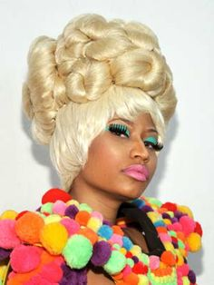 Nicki Manaj pom pom dress