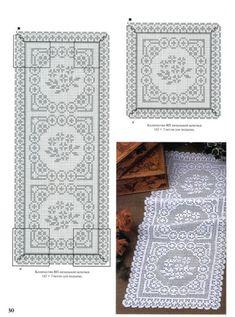 World crochet: Motif 307 Crochet Patterns Filet, Crochet Doily Diagram, Crochet Doily Patterns, Thread Crochet, Crochet Stitches, Crochet Table Runner, Crochet Tablecloth, Crochet Home, Love Crochet