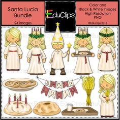 Santa Lucia Clip Art Bundle by EduClips on Etsy, $4.75