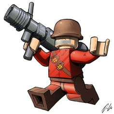 #LEGO #TeamFortress2. I'd pay to see some Lego TF sets.