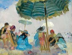 At the Beach by American Impressionist Martha Walter (1875 - 1976)