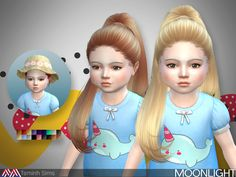 Moonlight (Hair 27-Toddler - 18 Swatches) - created by TsminhSims