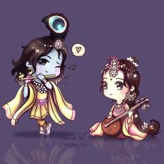 Swipe for colors! Explosion of cuteness! Oh sweet Sri RadheShyam, stay in my eyes, stay in my heart forever. Your faces are full of… Lord Krishna Images, Radha Krishna Pictures, Radha Krishna Photo, Krishna Art, Ganesha Pictures, Krishna Leela, Radhe Krishna Wallpapers, Lord Krishna Wallpapers, Krishna Drawing