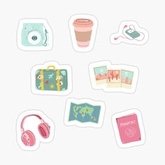 Homemade Stickers, Diy Stickers, Printable Stickers, Laptop Stickers, Chibi Girl Drawings, Doodle Drawings, Cute Walpaper, Vinyl Sticker Paper, Tumblr Stickers