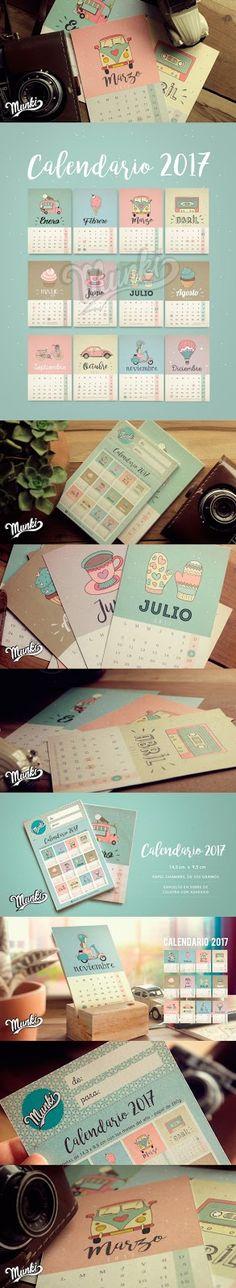 Munki Diseños Imprimibles: Calendario 2017                                                                                                                                                                                 Más