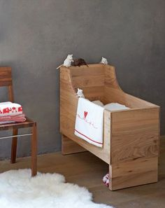 mooi wiegje wooden crib to make for a little one you love:
