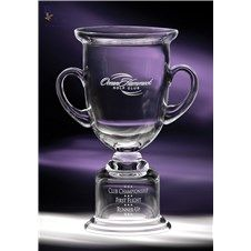 Cup Adirondack :: Your event will withstand the test of time when you present our Cup Adirondack. This handblown classic features a unique pedestal for engraving your award inscription that is sure to look stunning in our designer format.