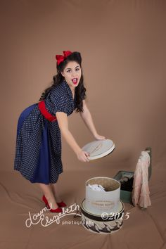 Having a little fun with pin-up photography.