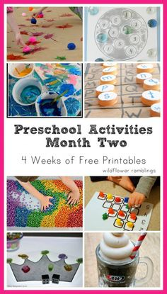 preschool activities: month two {printable four week schedule!} - Wildflower Ramblings