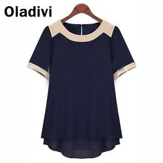 Find More Blouses & Shirts Information about 6XL Plus Size Women Clothing Short Sleeve Pachwork Chiffon Blouses Summer Wear Fashion 2015 Female Tops Shirt XXXXXXL/5XL TS013,High Quality Blouses & Shirts from Oladivi Group - Minabell Fashion Store on Aliexpress.com