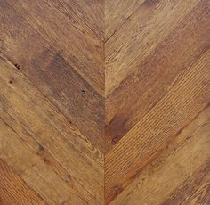 """Reclaimed Oak - Chevron Pattern - custom """"Ebony"""" stain  Parquet from reSAWN available in Solid & Engineered, New and Reclaimed Woods"""