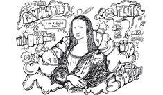 Le T-Shape de l'IIM à l'image de Léonard de Vinci Images, Sketches, Comics, Fictional Characters, Leonardo Da Vinci, Digital Art, Drawings, Comic Book, Cartoons