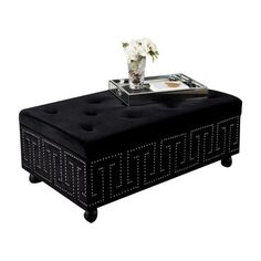 I pinned this Bette Ottoman in Black from the Cachet Decor event at Joss and Main!